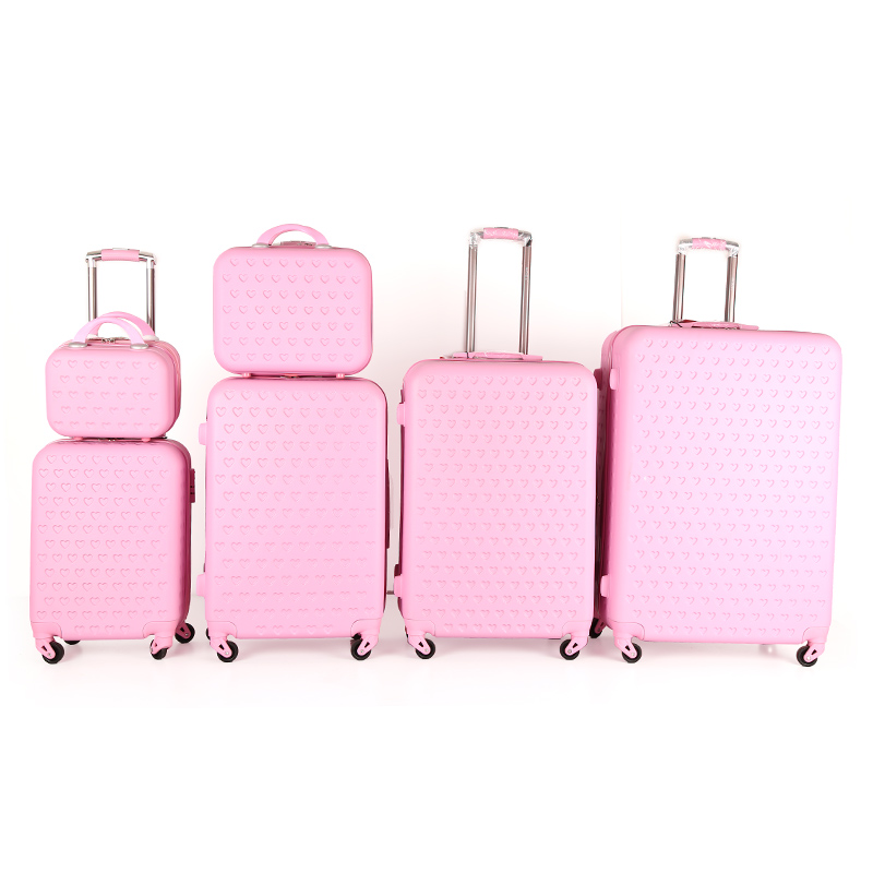 3 шт. для путешествий на заказ, набор багажных чемоданов, Горячая продажа ABS чемодан на колесиках для путешествий чемодан ABS школьная сумка
