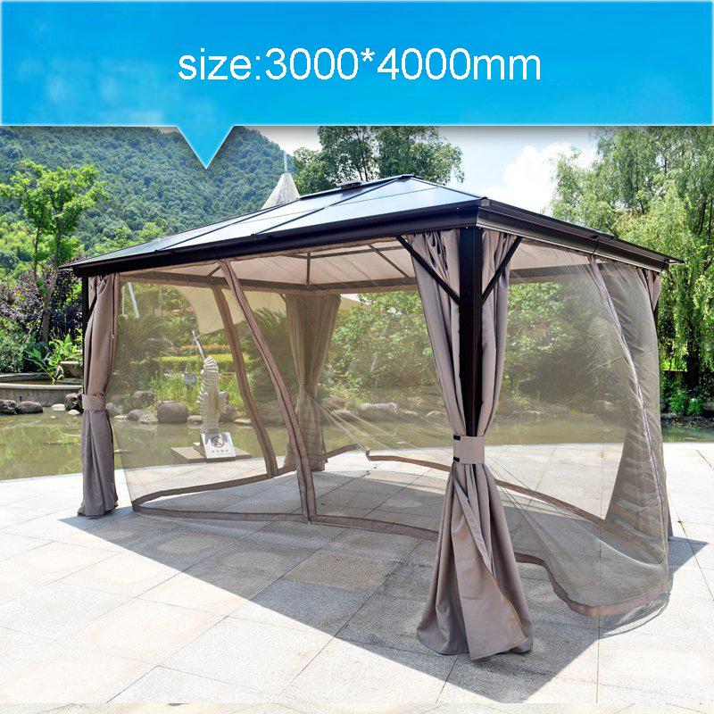 Modern outdoor metal outdoor garden gazebo pavilion iron garden pavilion