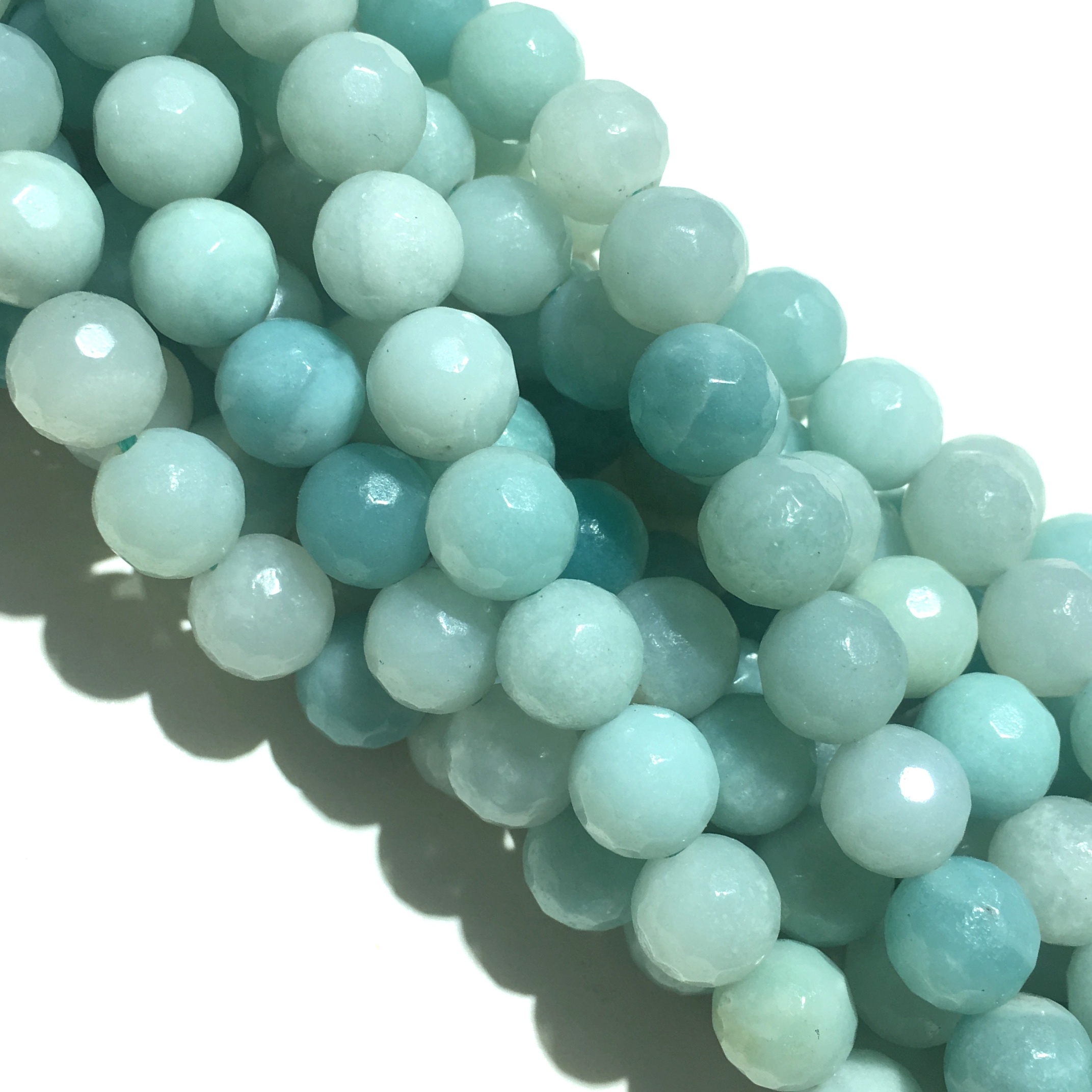 Russian Amazonite Natural Faceted Round Loose Beads Healing Energy Gemstone for Jewelry Making DIY Bracelet & Necklace Design