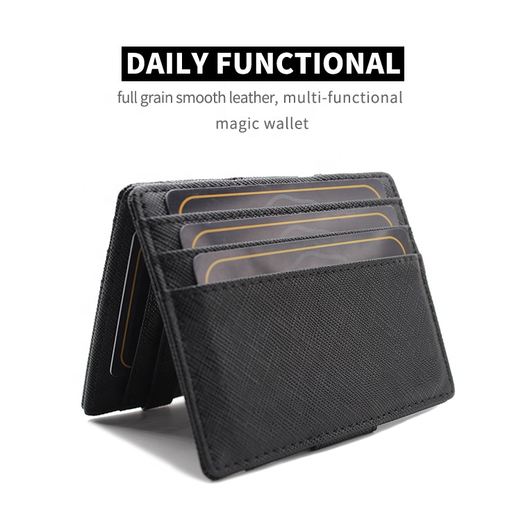 OEM Factory Wholesale Mens Wallet Genuine Leather Magic Wallets for Man