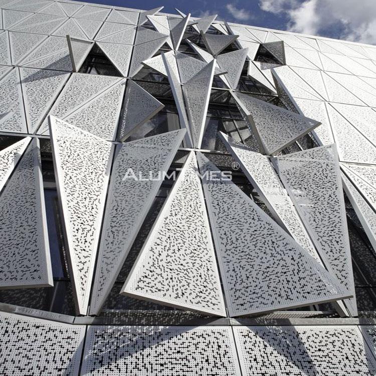 Exterior decorative perforated metal aluminium Cnc carved panel