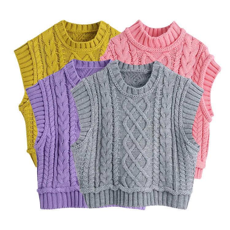 Spring Summer Vest Pullover Knit Vest Pattern Sleeveless Sweater