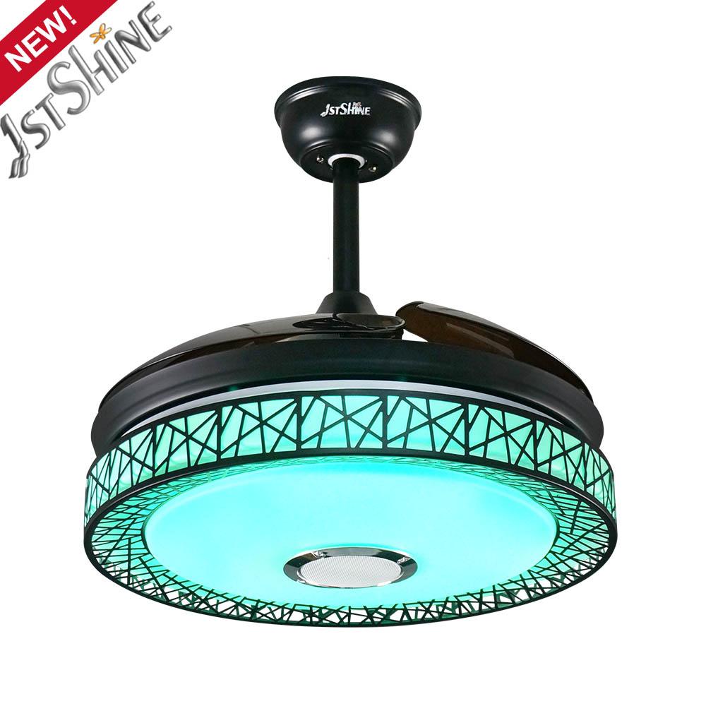 1stshine коммерческий современный дизайн цветным светодиодным светом потолочный вентилятор 42 дюймов современный потолочный вентилятор с лампа Скрытая лезвия