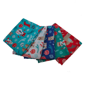 Christmas Printed Cotton Fat Quarter Bundles Quilting Fabric,Decorative Patchwork Fabric