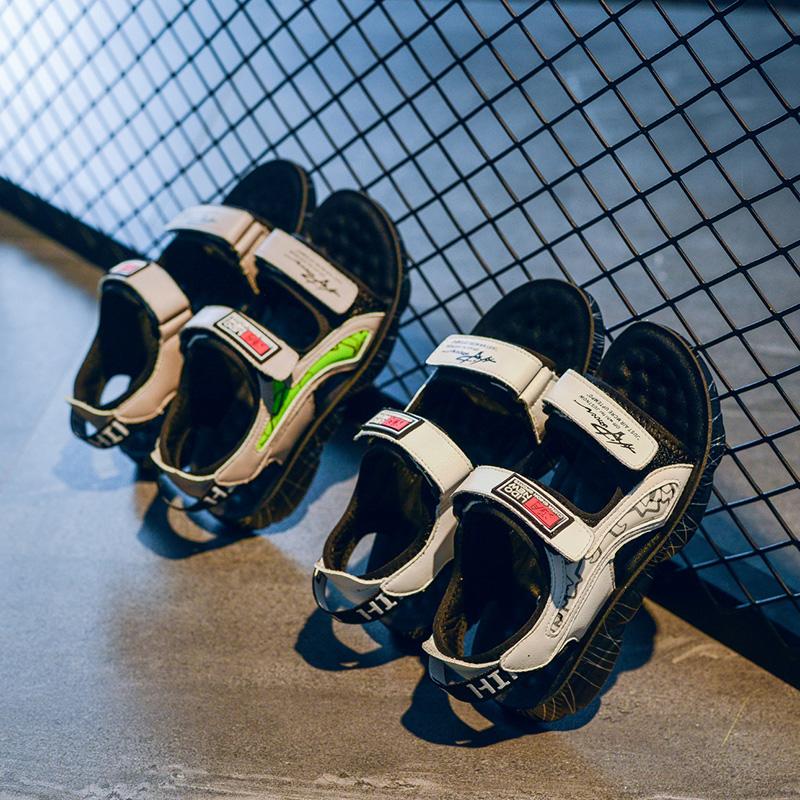 Летние детские спортивные удобные повседневные сандалии для мальчиков с маленькой подошвой медвежонка