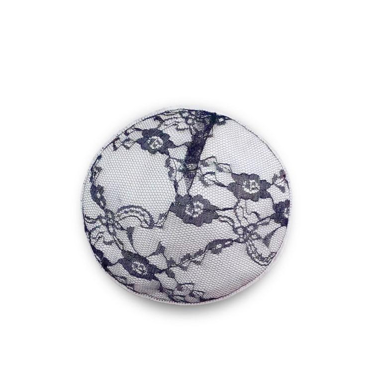 custom print black reusable organic cotton washable nipple nursing breast pads