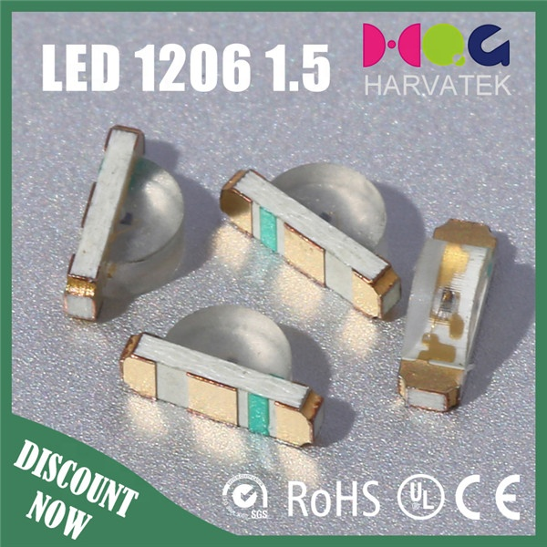 High mcd 5000-6500k white 1.7*0.6*1.1mm 0603 1706 smd led right angle