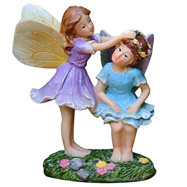 factory direct polyresin gift crafts Beautiful natural resin fairy figurine custom decorative Fairy Garden Supplies