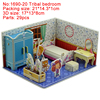 1690-20 Tribal bedroom