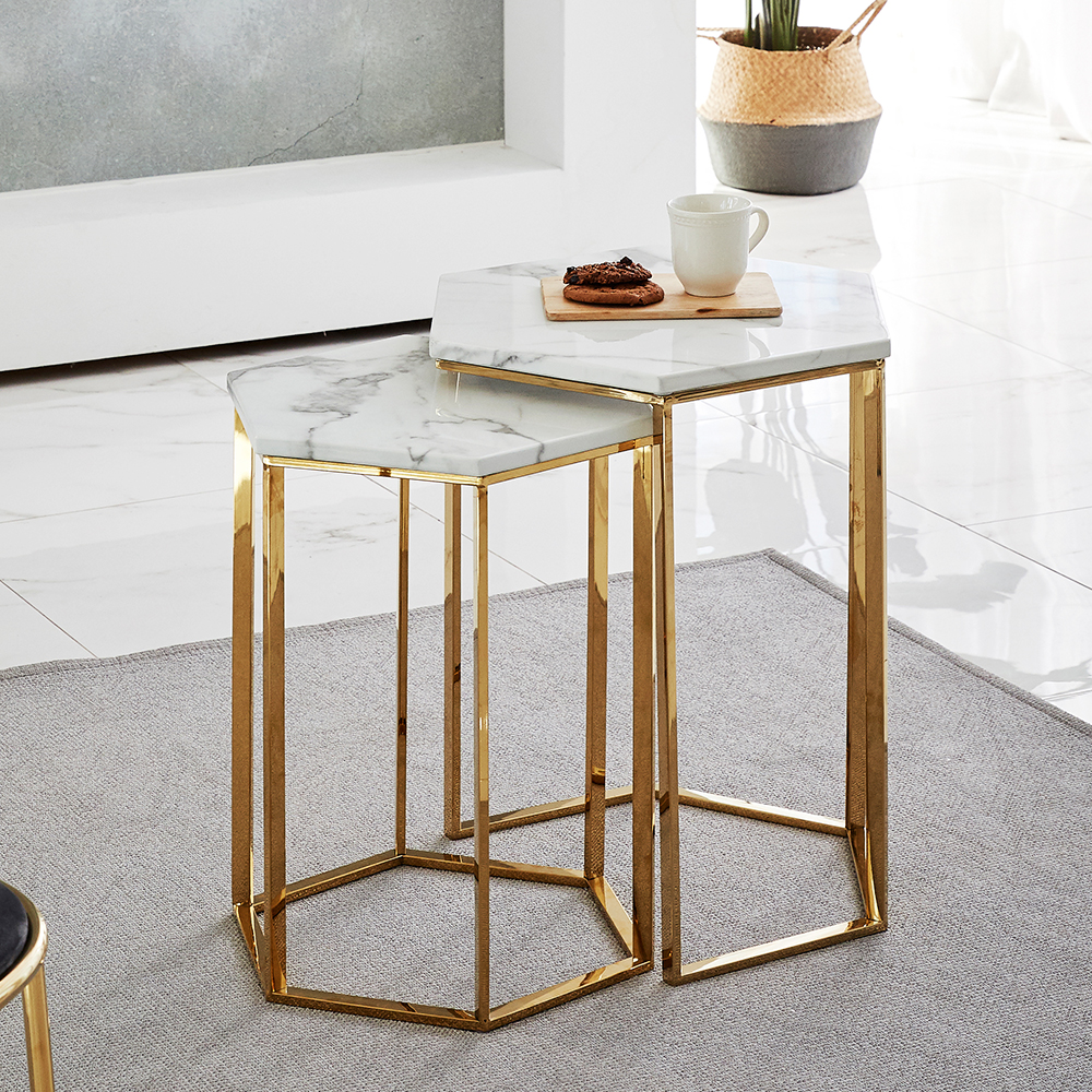 Modern Living Room Furniture Gold Stainless Steel Legs White Marble Top Nesting Coffee Table Set Buy Small Coffee Table Designers Coffee Tables Gold Coffee Table Modern Gold Coffee Table Antique Coffee [ 1000 x 1000 Pixel ]
