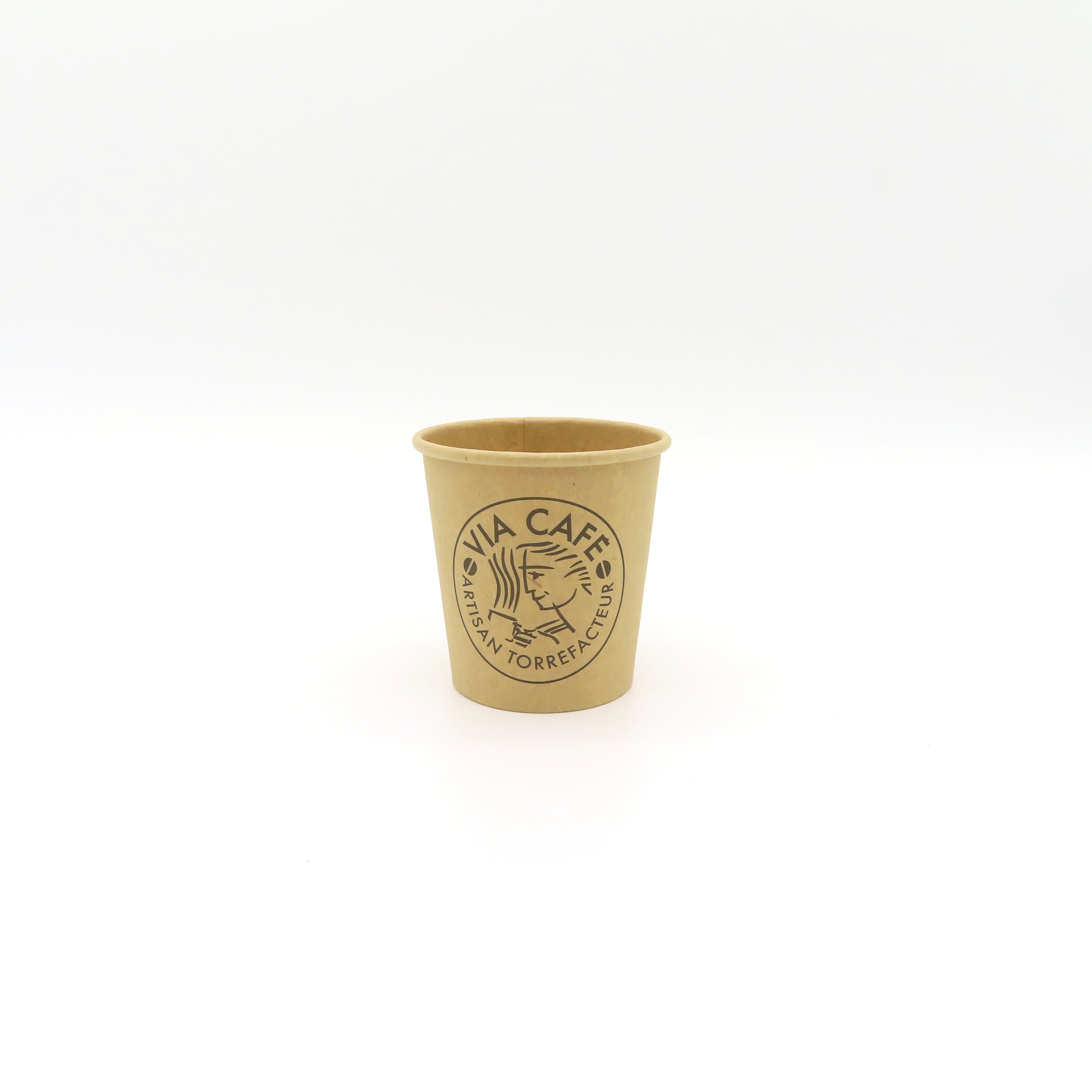 Factory wholesale 4oz 6oz 8oz 14oz 16oz blank process disposable kraft paper coffee cup, with cover, hot drink cup