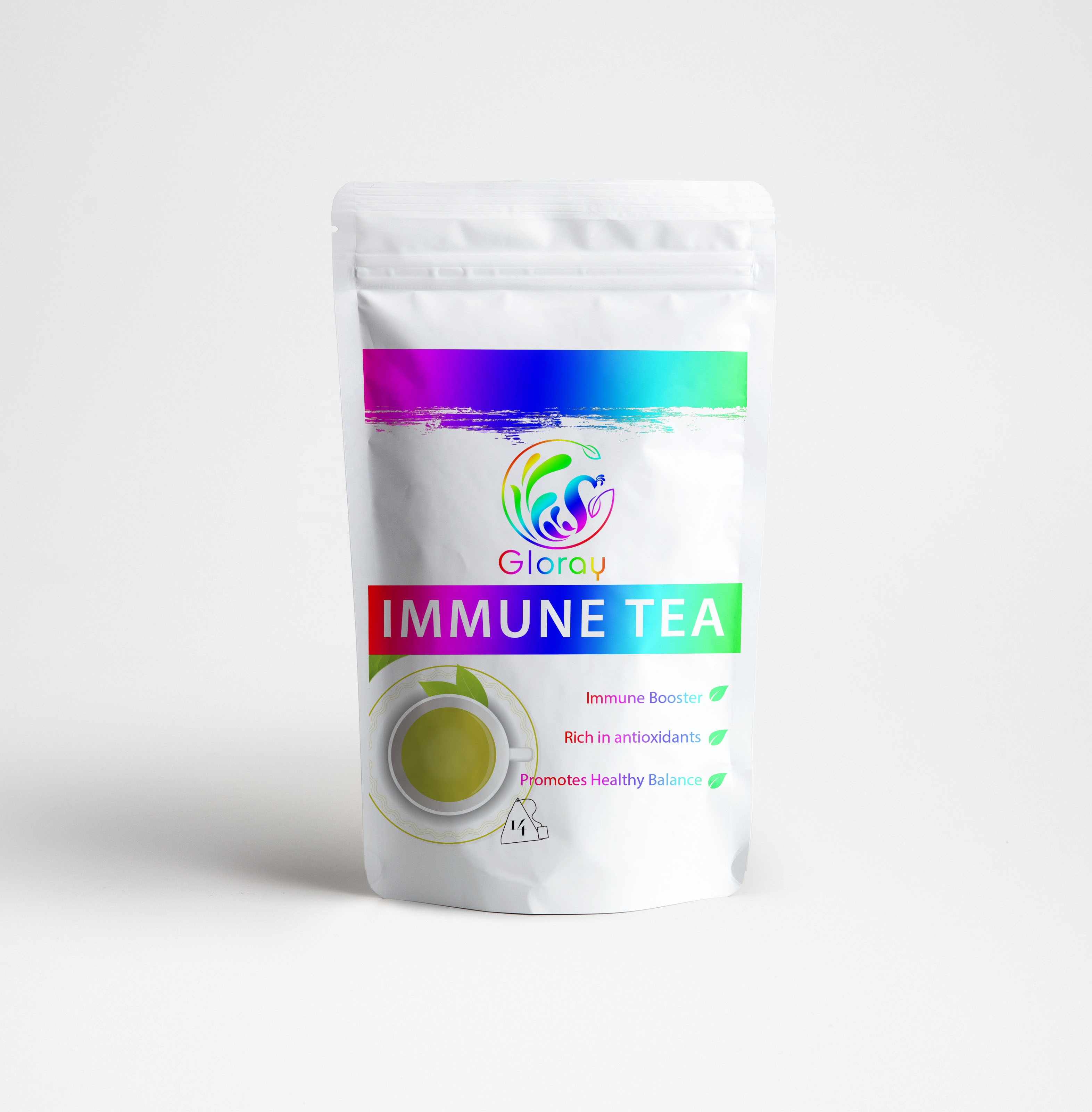 Private Your Brand Slim Tea Acai Berry 28 Tea Bags (100% Natural, Sugar Free, Gluten Free and Non-GMO) - 4uTea | 4uTea.com