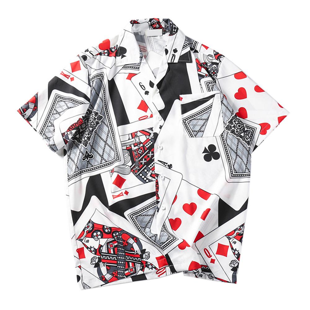 2021 Summer Cotton Print Holiday Shirt Hawaiian Style Men's Shirts Turn-Down Collar Shirts Streetwear Hip Hop Tops
