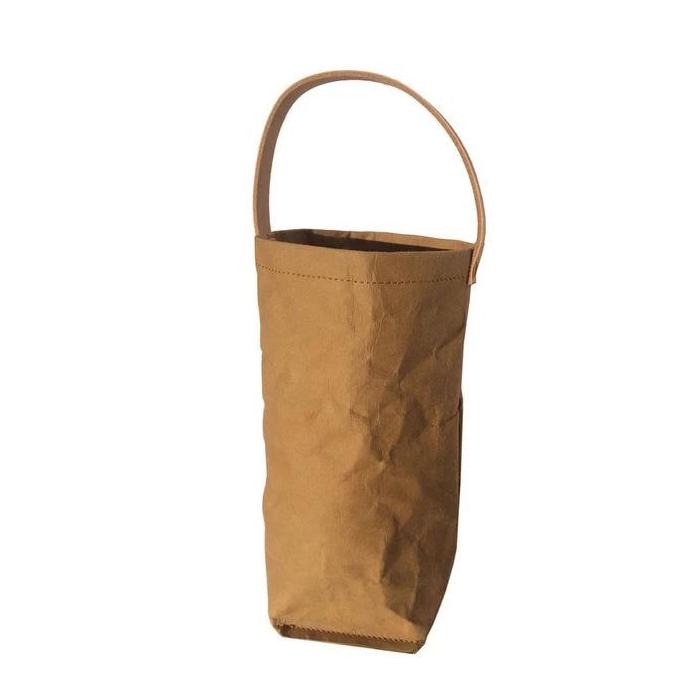 Одиночный моющийся бумажный пакет для вина, моющийся пакет для вина из крафт-бумаги