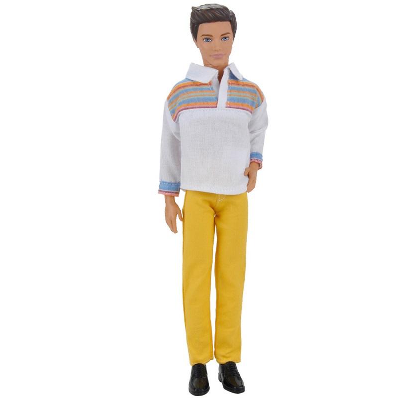 Модные детские игрушки подарок для девочек пуллип мальчик кукла аксессуары повседневный костюм набор партия Одежда для парень Барби Куклы ...(Китай)