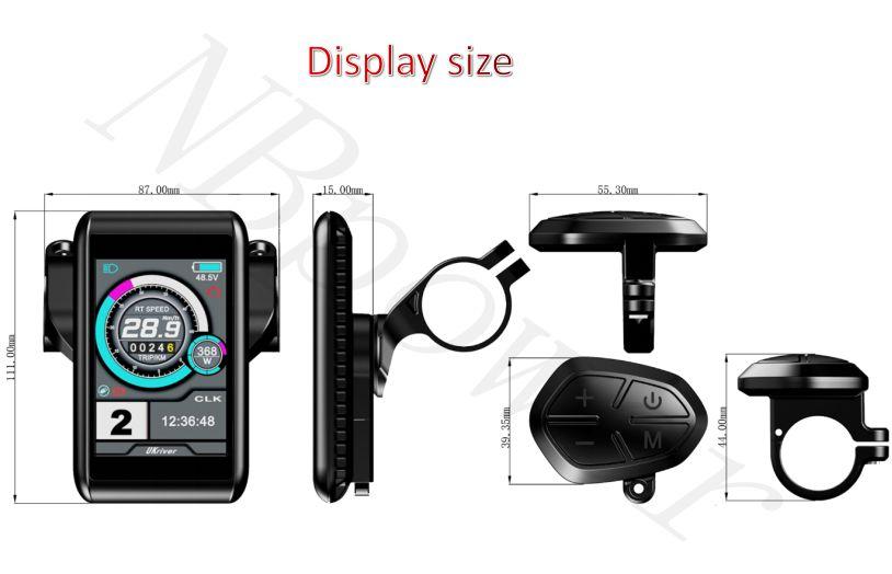 Дисплей для электрического велосипеда TFT UKC1, цветной дисплей для комплекта QS sabvoton