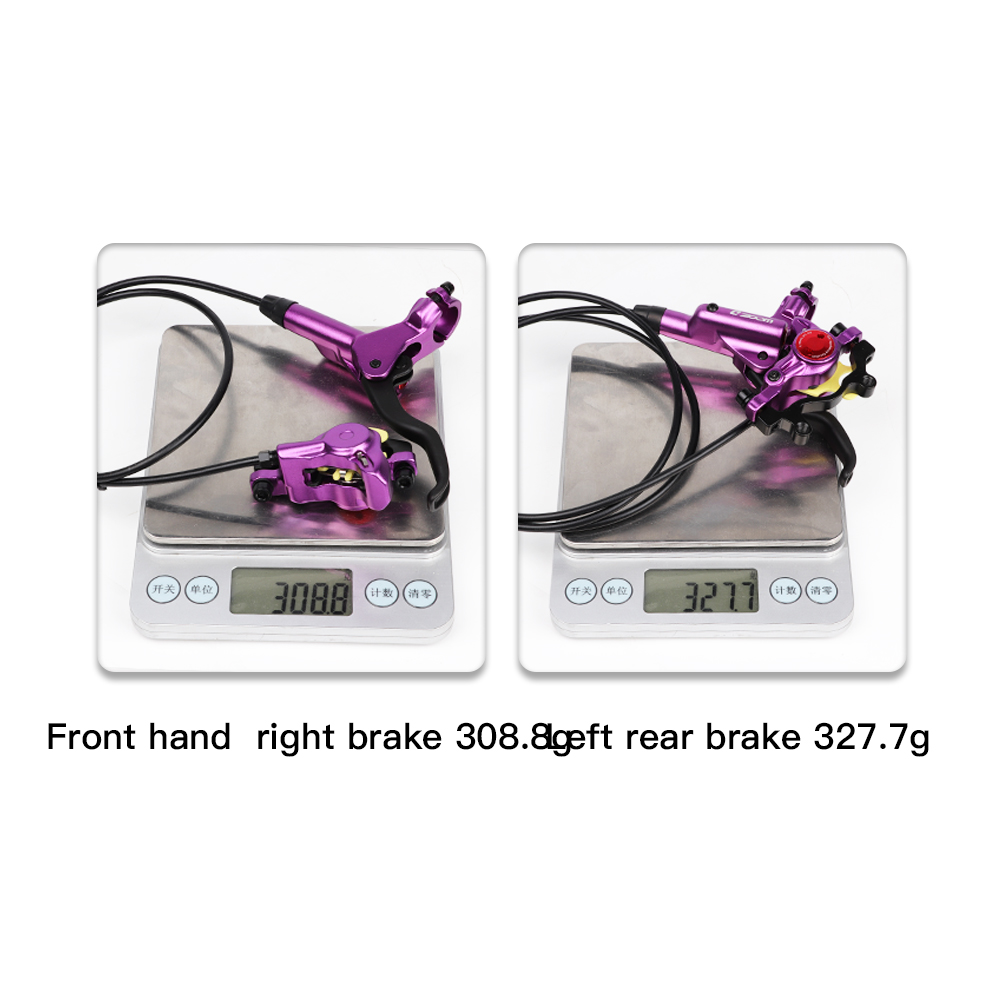 ZOOM HB-875 MTB Bicycle Hydraulic Disc Brake Set 160mm Calipers Adapter 800/1400 mm Front Rear Oil Pressure Mountain Bike Parts
