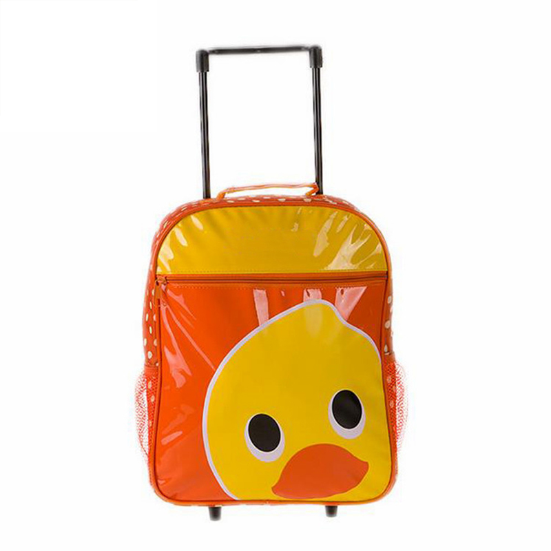 Trolley bag school Popular Cute Multicolor Travel luggage Bag Trolley Backpack With On Wheel For Children