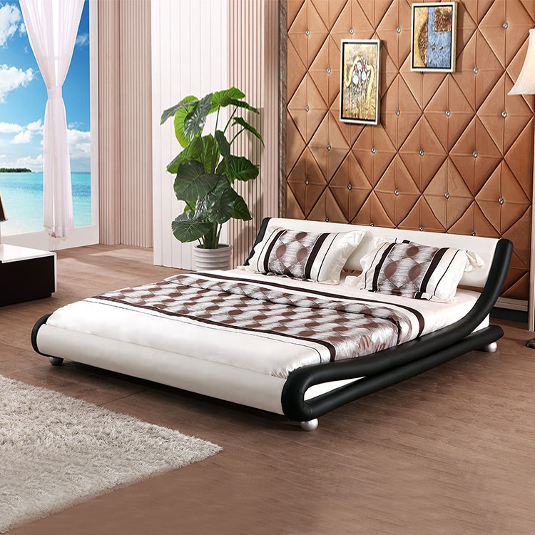 new Indian furniture bedroom bed sleeping double flat bed die cutting machine nordic bed