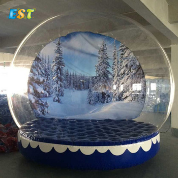 Transparent christmas ball giant inflatable snow globe tent