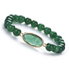 CB86547 Green Agate,long oval