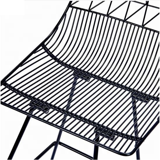 Modern Stylish Bar Stool Chair Bar Stool Dining Chair Mesh Hollow Chair Metal Furniture Leg