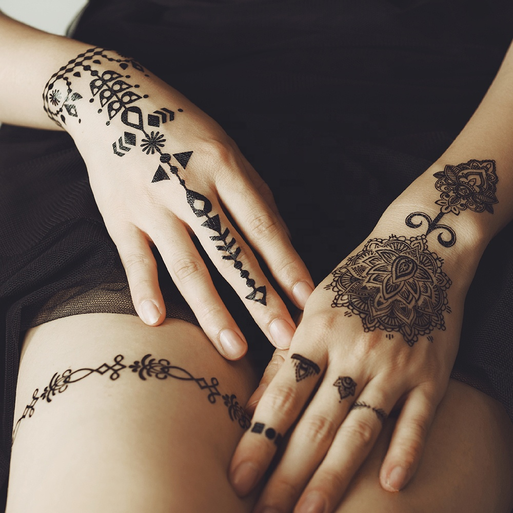 Bulk Beauty Stock Lace Temporary India Black Henna Tatoo