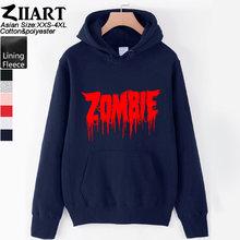 Женские худи с принтом «Walking Dead Zombie» для девочек; одежда для пары; сезон осень-зима; флисовая одежда ZIIART()