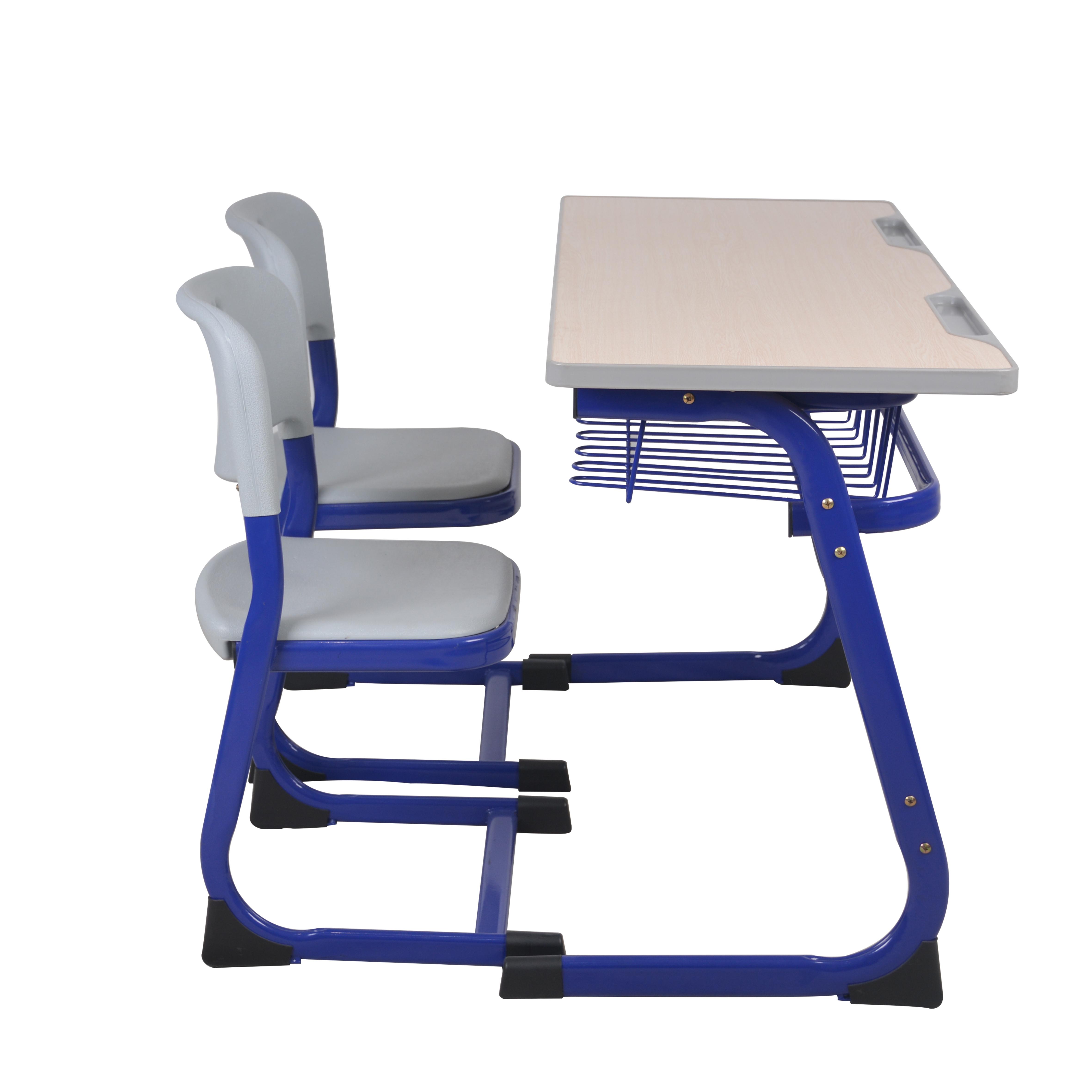 Высококачественная двухместная мебель для начальной школы, школьный стол и стул