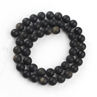Obsidian Round Obsidian Obsidian Beads 6-12mm Natural Dull Polish Matte Gold Obsidian Stone Round Beads For Jewelry Making Diy