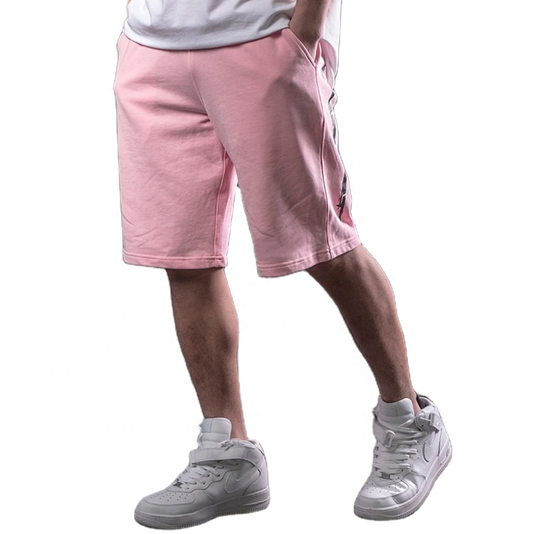 2021 New fashion Wholesale Custom Men's Sports Shorts Printed Cotton Fleece Colorful Sweat Shorts