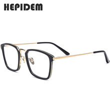 Ацетатная оправа для очков, квадратные очки по рецепту для мужчин и женщин, очки для близорукости, очки из нержавеющей стали(Китай)