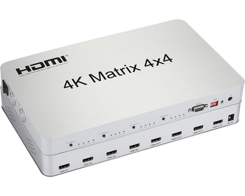 4K*2K 1.4V 4x4 HDMI Matrix Support 4K,bi-directional IR control