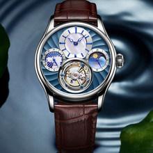 Горячая Распродажа, 100% настоящие роскошные механические Автоматические Мужские часы с турбийоном, топовые брендовые роскошные часы со ске...(Китай)