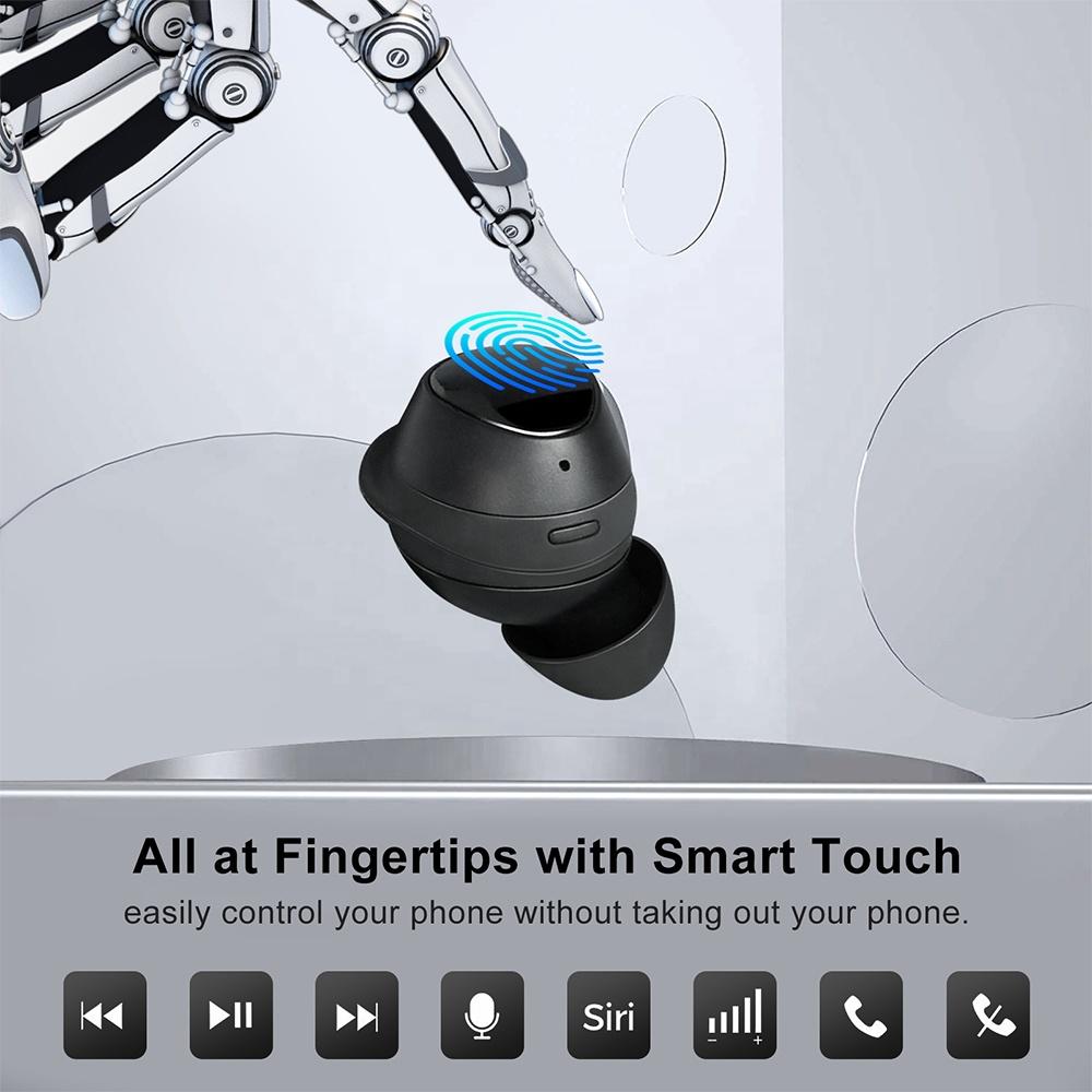 TWS 5,0 мини Водонепроницаемые портативные с сенсорным управлением новые стильные беспроводные наушники