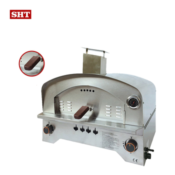 "2021 professional 12"" pizza design stainless steel outdoor bbq gas pizza oven for home making pizza"