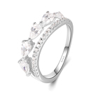 Cz Eternity Luxurious Silver Jewelry Ring Wholesale Price Customize White Gemstone CZ Zircon Lover Anniversary Eternity Wedding Ring