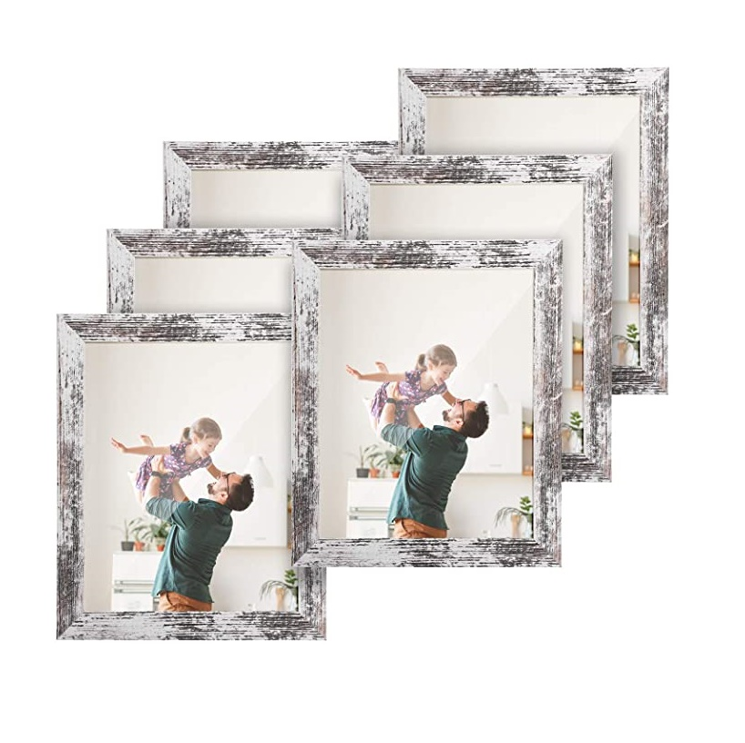 8 x 10 White Rustic Distressed Picture Frame