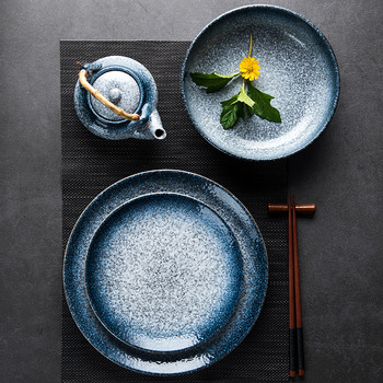 China Dinner Plates Customized Ceramic Dinnerware sushi plates and dishes for Hotel home Party Wedding