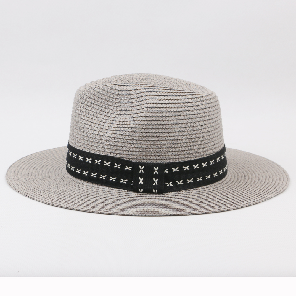 superior quality cowboy straw hats bucket hat with wide band decoration for women and men