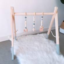 Скандинавский стиль, мультяшная цельная деревянная стойка для маленьких детей, украшение для детской комнаты, игрушки с орнаментом, подвес...(Китай)