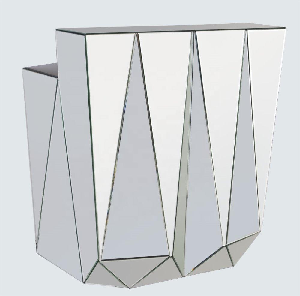 Современная популярная уникальная зеркальная мебель с ручной росписью, прозрачная зеркальная консоль, стол, барный стол