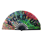 Paper Fan Fan 2020 New Arrival Customized Printing Decoration Wooden Hand Held Paper Fan