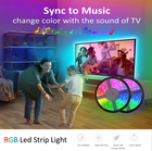 12v Rgb Led Ledrgbrgb Colour Changing 12v 5050 Smd Rgb Phone App Smart Led Strip Music Control