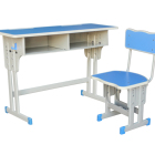 School Steel Desk And Chair School Double Student Desk And Chair Reinforced Strengthen School Furniture Steel Frame