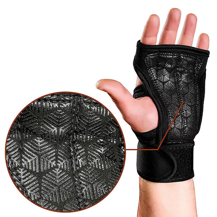 Бесплатный образец прочные пользовательские логотип без пальцев для женщин мужчин спортивный тренажерный зал тяжелой атлетики для рук фитнес перчатки