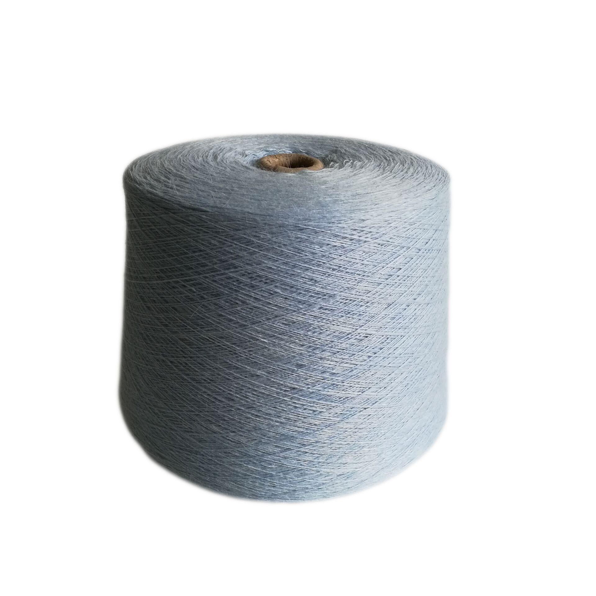 Knitting angora yarn for hat