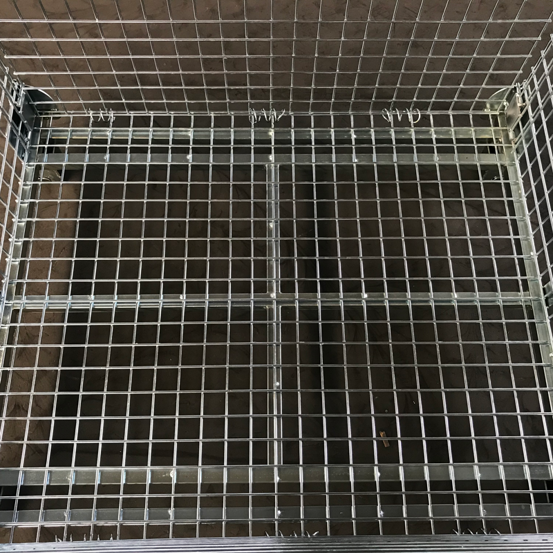 Looking business partner in china mesh box wire cage metal bin storage container