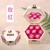 רוז אדום צבע 6-זווית עץ Box_Handbag