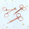 scissor rose gold